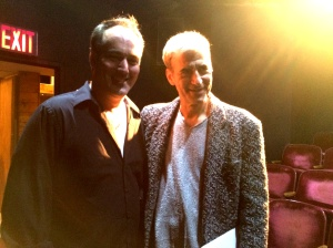 Director, Ryan Lee with Playwright, Rich Orloff after the first night of the 3-Day reading of Jennifer's Birth.  The place was packed with people and applause.