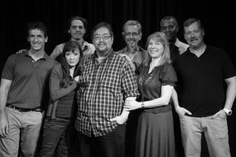 Playwright Scott C. Sickles with Scott Ahearn, Susan Izatt, Ben Rezendes, CK Allen  Anne Fizzard, Michael Gnat and Director Fritz Brekeller