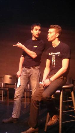 Mercutio (Ryan McCurdy) & Romeo (Jacob Owen)