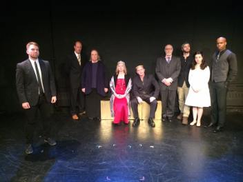 The magnificent company, from left to right:J.WARREN WEBER, ARTHUR AULISI, LIZ AMBERLY*, ARTHUR AULISI*, ZACK BANKS, LETTY FERRER, CHARLES E. GERBER, JASON HOWARD, REBECCA JOHNSON, KELSEY KURZ