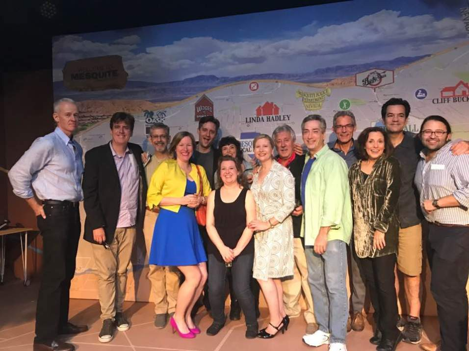 Cast and Creatives of MESQUITE, NV (from left to rt - Jed Dixon, Thomas Cote, Michael Gnat,Diana Ducker, Leegrid Stevens, Jackie Jenkins, Lisa R. afford, Liz Amberly, Alex Dmitriev, Robert Meskin, Jeff Paul, Jill Melanie Wirth, Joe Burby, Anthony Paul-Cabaretta